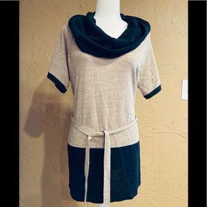 Eloquii NWT Black & Tan Tunic Top Sweater Sz 14/16